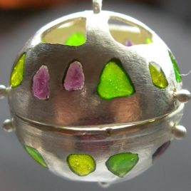 Ball of light pendant in plated silver