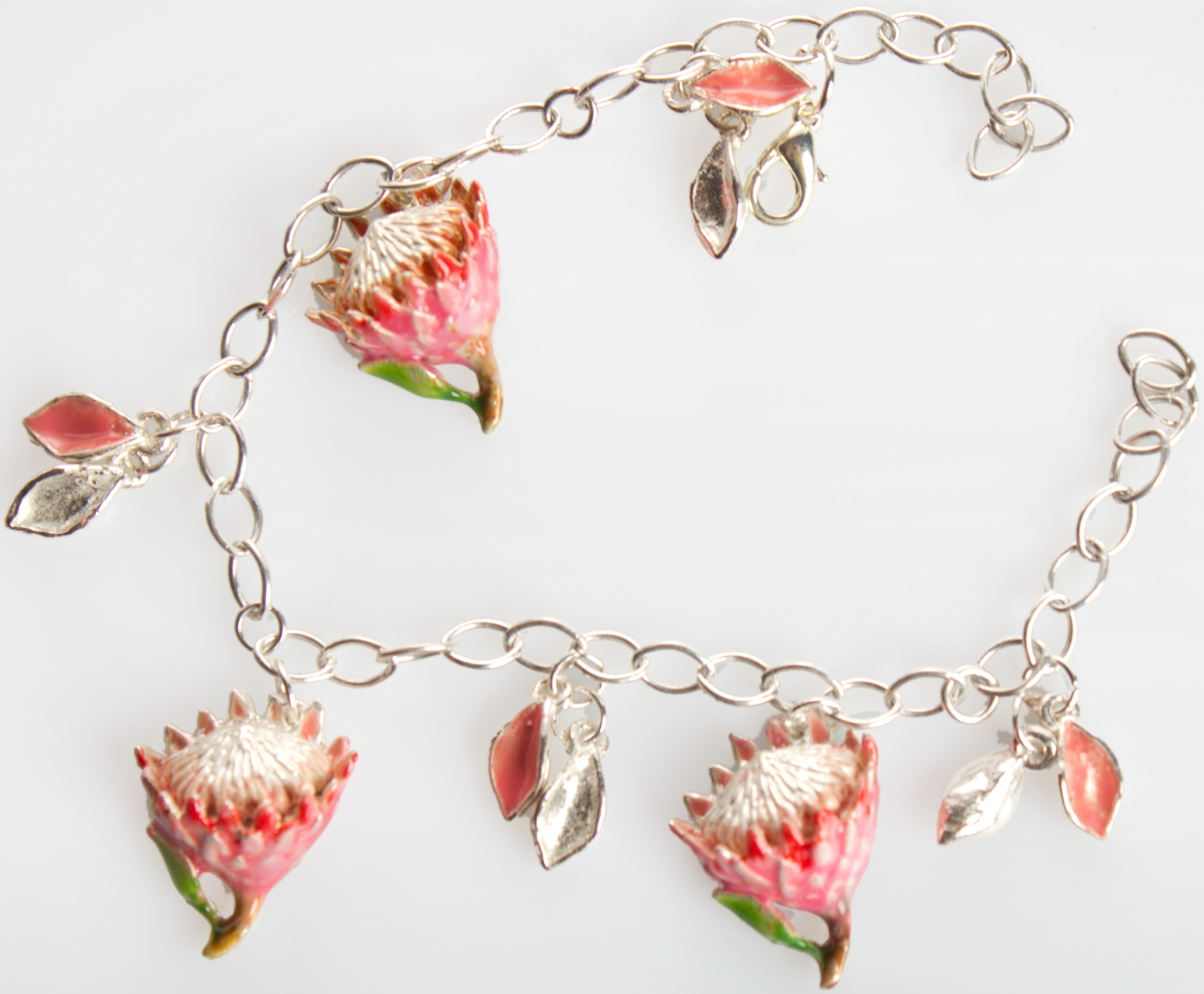 King Protea (small) bracelet in silver plate