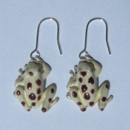 Frog (small) earrings in plated silver