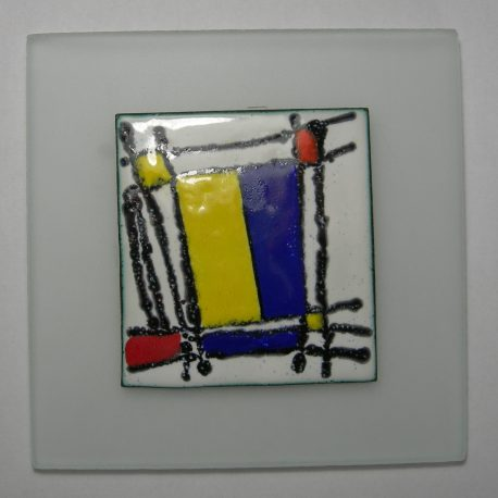 Enamel panel Piet Mondrian