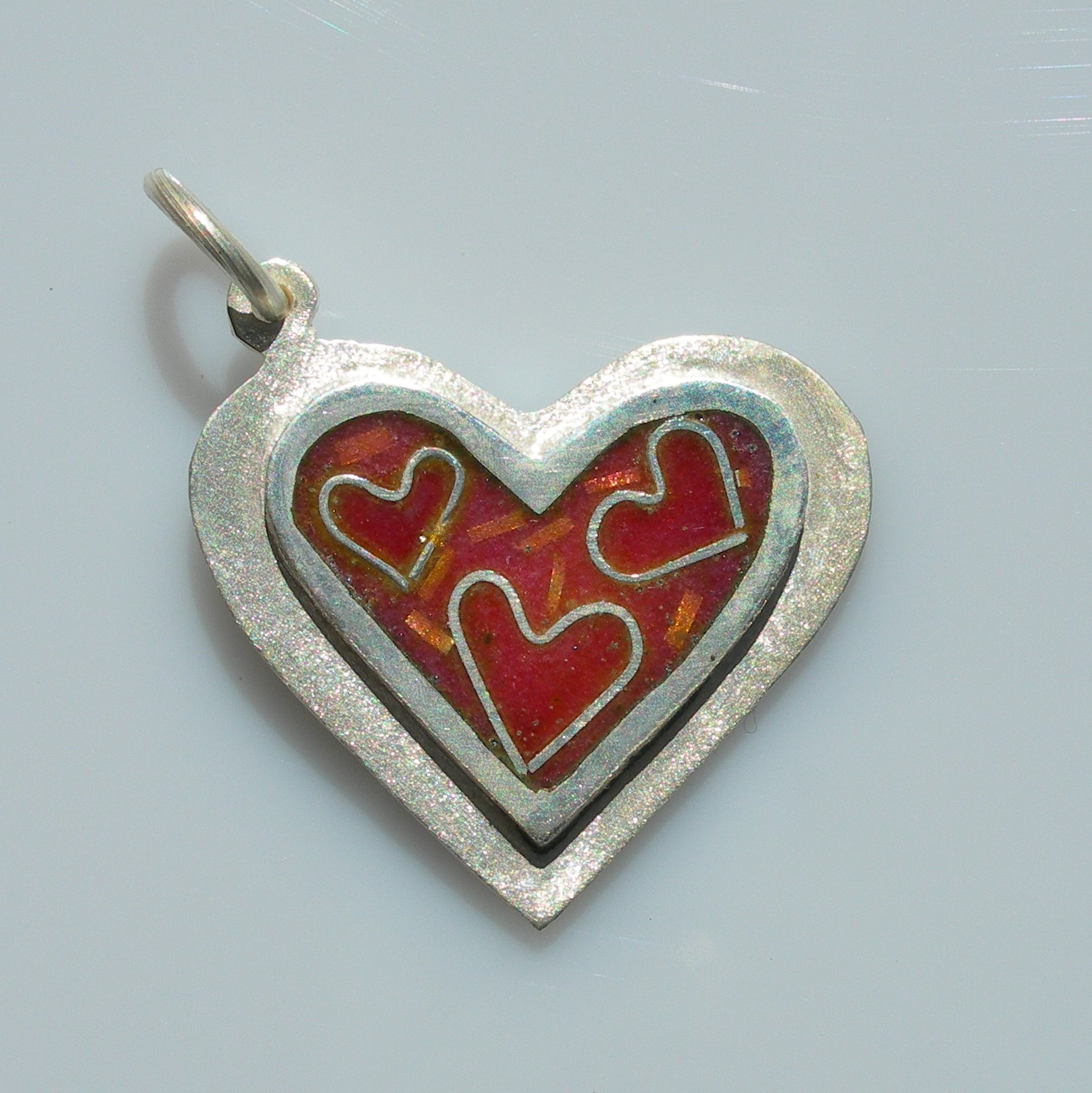 Heart of happiness pendant sterling silver