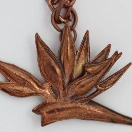 Strelitzia pendant in bronze