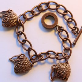 Pin-cushion bracelet in bronze