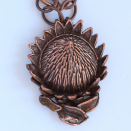 King Protea  (large) pendant in bronze