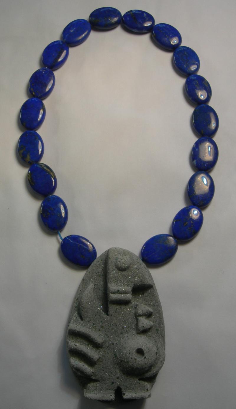 Stone totem pendant