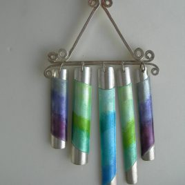 Chimes pendant in sterling silver