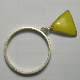 Yellow charm ring