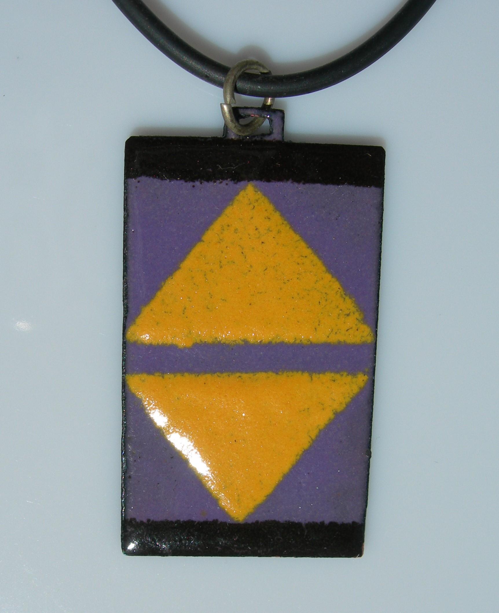 Ndebele pendant violet