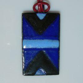 Ndebele pendant blue