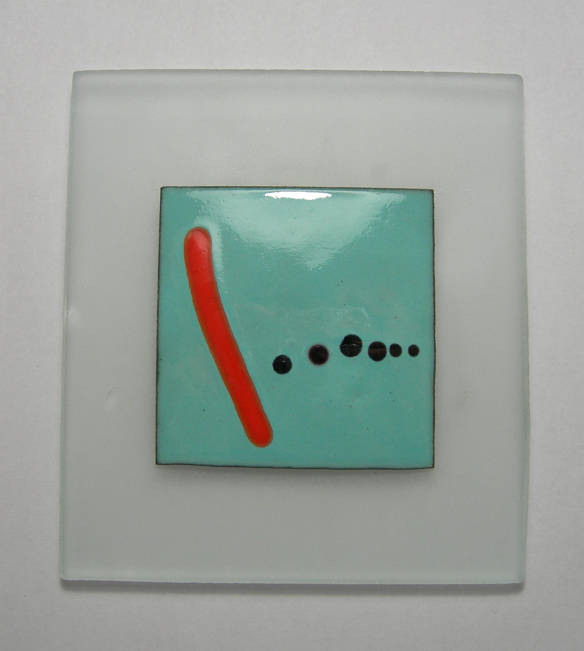 Enamel panel Joan Mirot