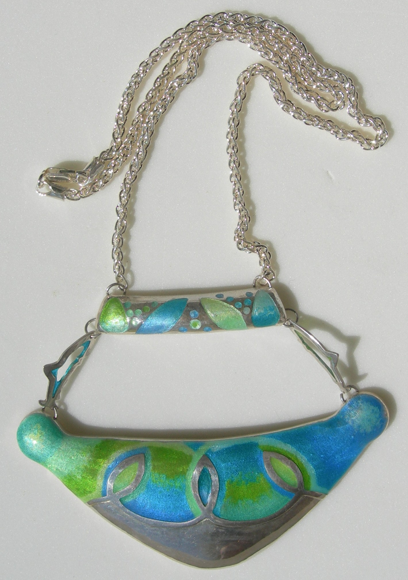 Fish pendant in sterling silver