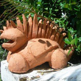 Gentle creature in terracotta