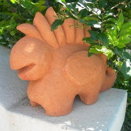 Gentle creature in terracotta 2