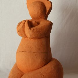 Mother in prayer in terracotta – NOT FOR SALE