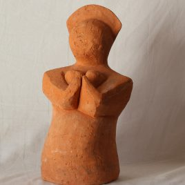 Mother supplicating in terracotta