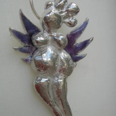Purple fairy pendant