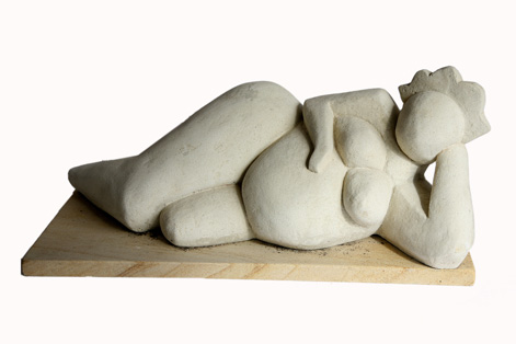 Reclining nude lady