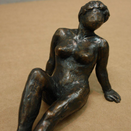 Woman 25 55 same woman at 25 in cast Bronze