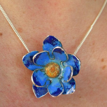 Cornflower blue pendant
