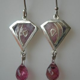 Violet kite earrings in sterling silver