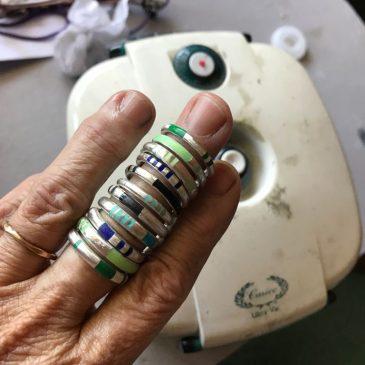 Rings in silver & enamel